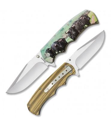 Couteau de poche impression 3D taureaux