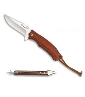 Couteau de poche Albainox Pakkawood rouge