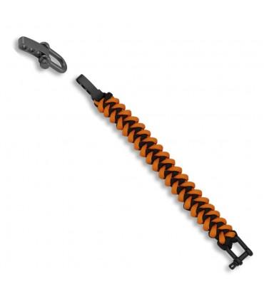 Bracelet paracord orange et noir