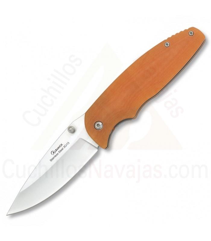 Couteau de poche Albainox G10 orange